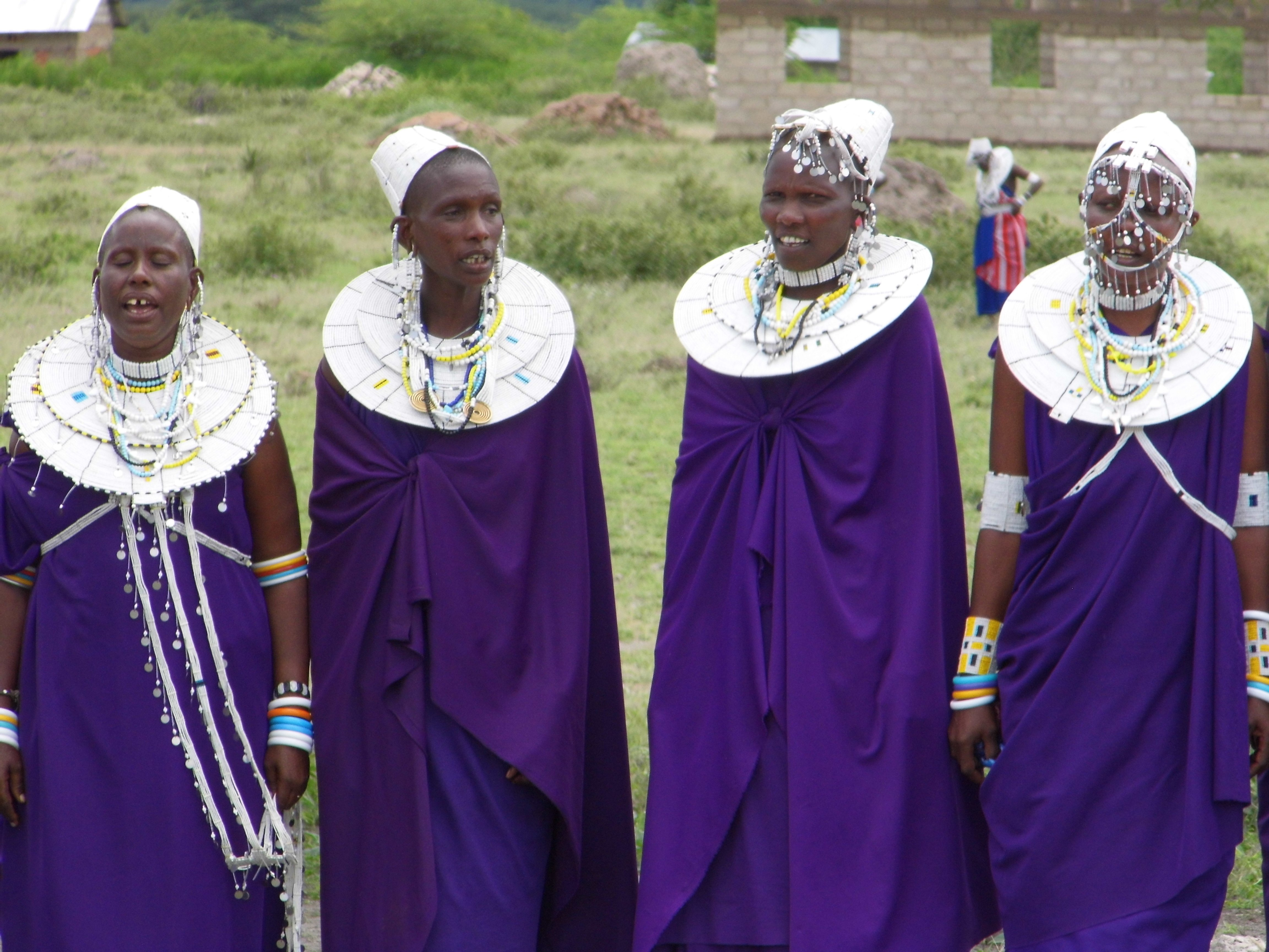 Masai women in jewellery